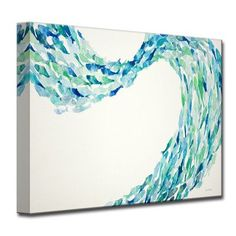 Shop Flow' by Norman Wyatt, Jr. Coastal Wrapped Canvas Wall Art - On Sale - Overstock - 13228794 - overall size: 20 in. h x 30 in. Wall Art Sets, Large Wall Art, Metal Wall Art, Canvas Wall Decor, Canvas Art, Canvas Size, Canvas Prints, Grand Art Mural, Coastal Wall Art