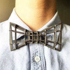 Large Steel - Weaving Rebar - 3D Printed Bow Tie - Custom Accessory, Wedding Bow Tie, Groomsmen Gift, Groom, Gift