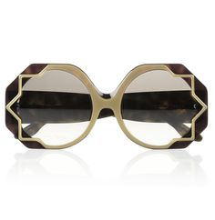Cutler and Gross Star-detailed round-frame acetate sunglasses, from Net a Porter Sunglasses Outlet, Ray Ban Sunglasses, Funny Sunglasses, Luxury Sunglasses, Sports Sunglasses, Fashion Now, All About Fashion, Runway Fashion, Prom Accessories