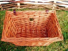 Adult's square willow cycle basket