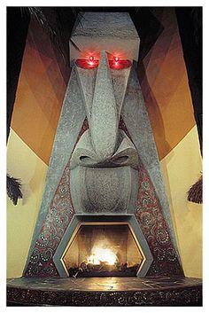 Kahiki fireplace