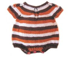 KSS Earth Colored Striped Onesie 6 Months