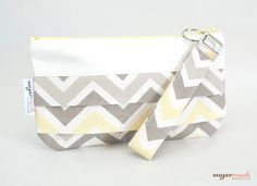 Zoom Zoom Sunny Chevron Pleated Clutch by sugarrushcreative, $18.00