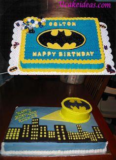 Heroic Batman Cake Ideas, Batman Sheet Cake Ideas