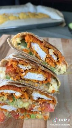 Fun Baking Recipes, Lunch Recipes, Cooking Recipes, Healthy Recipes, Comida Diy, Aesthetic Food, Food Cravings, Buffalo Chicken Wraps, Diy Food