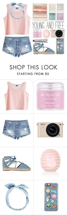 """Denim Accessories"" by stavrolga ❤ liked on Polyvore featuring MTWTFSS Weekday, Sara Happ, H&M, Holga, Nikon, Aquazzura, Topshop, denim, polyvoreeditorial and polyvorecontest"