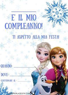 invito festa a tema Frozen da stampare gratis!