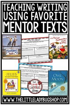 Teachers often use mentor texts (or anchor texts) in writing instructions. These pieces of writing are examples of excellent work either from students or published writers. Mentor texts help upper elementary students improve writing in all areas