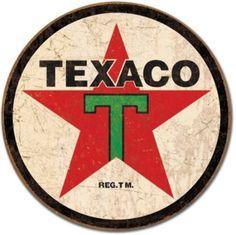 Amazon.com: Texaco 36 Logo Round Distressed Retro Vintage Tin Sign: Home & Kitchen