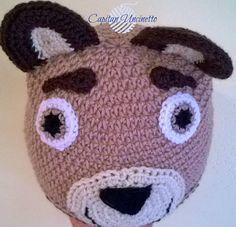 Guarda questo articolo nel mio negozio Etsy https://www.etsy.com/it/listing/550249700/cappello-orso