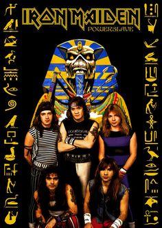 Iron Maiden -Powerslave by Crusader Art. Iron Maiden Tour, Iron Maiden The Trooper, Best Heavy Metal Bands, 80s Metal Bands, Iron Maiden Album Covers, Iron Maiden Albums, Iron Maiden T Shirt, Iron Maiden Band, Iron Maiden Guitarist