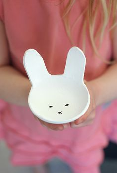 diy air dry clay bunny bowls for easter on aliceandlois.com