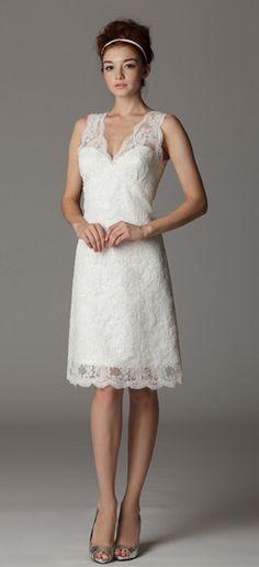 Style 286KA. V-Neck wedding dress.  Made in USA.  Ariadress.com $565