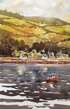 Iain Stewart Watercolors Rothesay Scotland