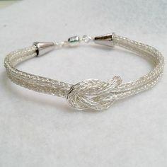 Viking Knit Silver Love Knot bracelet by DonnaDStore on Etsy