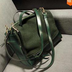 INLEELA Suede Bag Nubuck Women Handbag Fashion Vintage Messenger Bag Larger Motorcycle Winter Women Bags Bigger Than A4