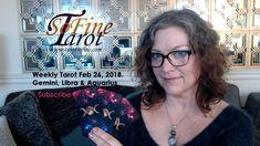Weekly Tarot February 2018 (Taurus, Virgo & Capricorn) - Tarot So Fine Leo And Sagittarius, Taurus, Libra Aquarius, Tarot Astrology, Fire Signs, Earth Signs, Card Reading, February, Cancer