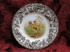 """Spode Woodland Golden Retriever Dog Salad Plate s 7 75"""" New w Orig Box   eBay"""