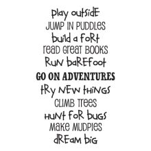 Boys Are Great Play Outside Play Rules Wall Decal