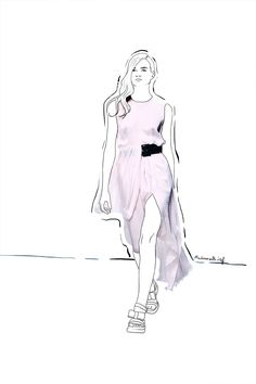 Mademoiselle Stef - Blog Mode, Dessin, Paris | Défilé Rabih Kayrouz et petites confidences | http://www.mademoisellestef.com