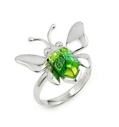 Inel fluturas din argint 925 rodiat cu sticla de murano-big Butterfly Ring, Jewerly, Plating, Silver Rings, Brooch, Stamp, Sterling Silver, My Style, Pretty