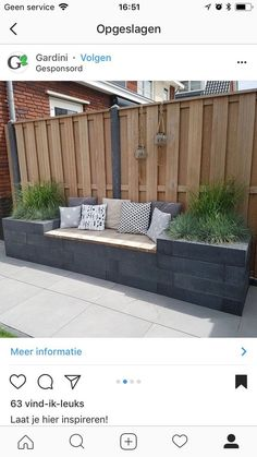 Outdoor living with modern outdoor banking inspiration - Diygardensproject.live- Leben im Freien mit moderner Outdoor-Bankinspiration … – Diygardensproject.live Outdoor life with modern outdoor banking inspiration - Terrace Garden, Garden Beds, Garden Plants, Garden Fences, Garden Borders, Garden Privacy, Backyard Privacy, Court Yard Garden Ideas, Garden Tiles