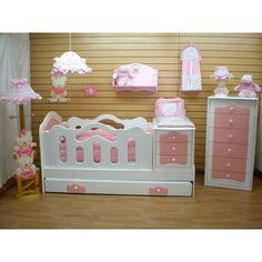 Recamara niña Baby Bedding Sets, Baby Nursery Bedding, Baby Bedroom, Baby Room Decor, Kids Bedroom Furniture, Baby Furniture, Fairy Theme Room, Baby Crib Diy, Newborn Bed