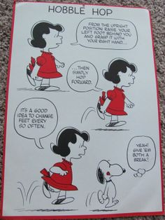 Items similar to Vintage Peanuts Exercise Poster 10 x 15 - Hobble Hop on Etsy Charlie Brown Comics, Charlie Brown And Snoopy, Snoopy Love, Snoopy And Woodstock, Peanuts Snoopy, Peanuts Comics, Lucy Van Pelt, Warm Blankets, Exercise