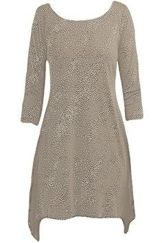 Staples Clothing Point Tail Hem Tunic - Taupe/Silver.  Corrineonline.com