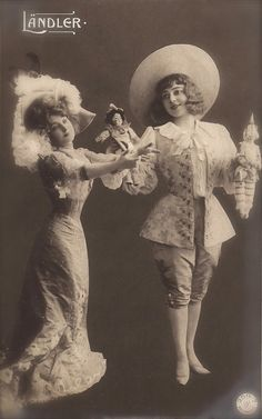 Anna Held, Famous Edwardian Cabaret Stage Star Surreal Dance Fantasy Photomontage Original Rare 1900s Belle Epoque German Photo Postcard