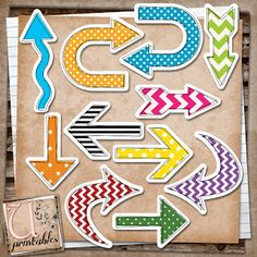 U printables by RebeccaB: FREE Print/Print and Cut Arrows - includes Silhouette Studio Print and Cut file