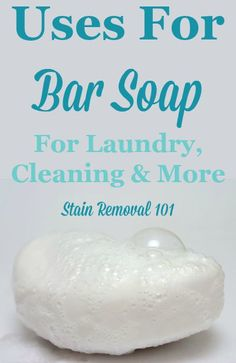 Bar soap is such a common item in your home. Did you know it had uses for cleaning, laundry stain removal, as well as its normal function? Find out all it can do. Homemade Cleaning Products, Cleaning Recipes, Natural Cleaning Products, Cleaning Hacks, Diy Products, Cleaners Homemade, Diy Cleaners, Homemade Soaps, Ivory Bar Soap