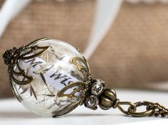 Dandelion Necklace wish jewelry Pendant dandelion Seeds Dandelion Necklace, Dandelion Seeds, Have A Shower, Glass Ball, Memorable Gifts, Blown Glass, Pendant Jewelry, Mother Day Gifts, Christmas Bulbs
