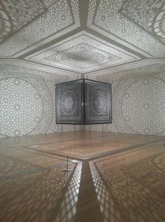 BEAUTIFUL light box - Anila Quayyum Agha - ArtPrize winner in Michigan