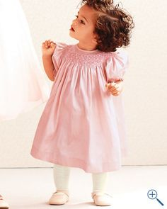 Silk Smocked Dress by Luli and Me available at @garnethill