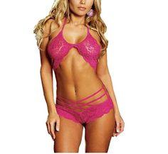 Teenloveme Women's Lace Lingerie Set – Bra Top And Panties Lace Lingerie Set, Sexy Lingerie, Plus Size Clubwear, Bra And Panty Sets, Bra Tops, Sexy Women, Rose, Swimwear, Curvy