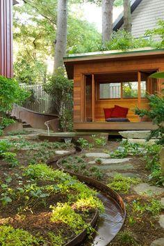 Meditation Hut, Meditation Garden Julie Moir Messervy Design Studio Saxtons River, VT