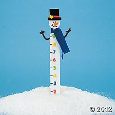 Wooden Snowman Snow Measuring Stick Craft Kit