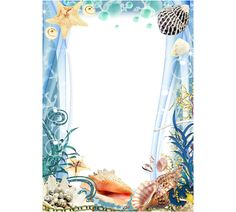 Ocean Frame | Photo frame - Ocean theme Theme Pictures, Ocean Themes, Frame It, Marine Life, Plant Hanger, Picture Frames, Crafts, Seafood, Summer