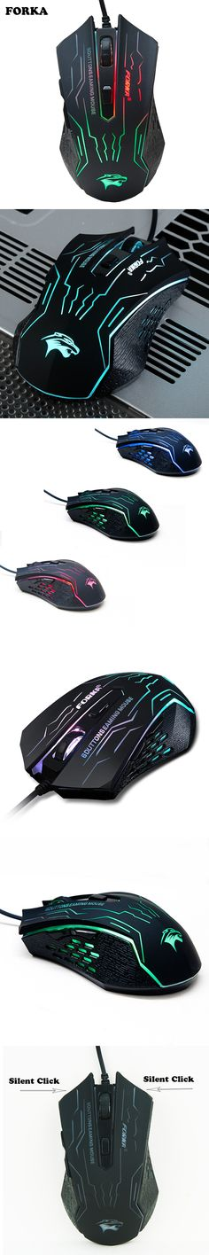 3200DPI Silence Click USB Wired Gaming Mouse Gamer 6Buttons Opitical Ergonomics Computer Mice For PC Mac Laptop Game LOL Dota