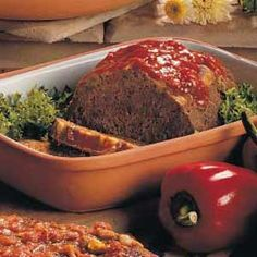 """Since I don't like chunky onions and such in my meatloaf, I put them in the food processor and I double on the sauce. Any way it's made, this is """"The best meatloaf"""""""