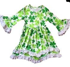 Clover St. Patrick's Day Lace Boho Dress St. Patty Saint Paddy 2 3 4 5  gch #Unbranded #StPatricksDayCasualFormalParty