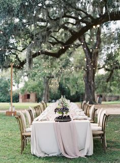 Reception under the trees | Photography: Hannah Alyssa