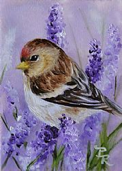 Art: Little Patch of Lavender by Artist Paulie Rollins