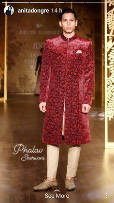 Indian Groom Wear, Fur Coat, High Neck Dress, How To Wear, Jackets, Dresses, Fashion, Turtleneck Dress, Down Jackets