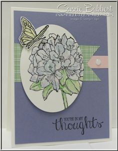 For the CCMC365 Sketch Challenge, Best Thoughts Hostess set, hydrangea, Stampin' Up!, #stampinup, created by Connie Babbert, www.inkspiredtreasures.com