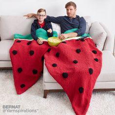 Knit Watermelon Snuggle Sack | Free Pattern | Yarnspirations