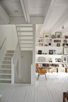 A white loft in Amsterdam