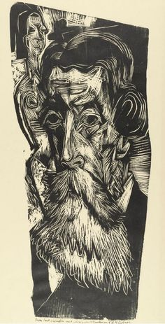 By Ernst Ludwig Kirchner (1880-1938), 1918, Head of Ludwig Schames (German art dealer.)