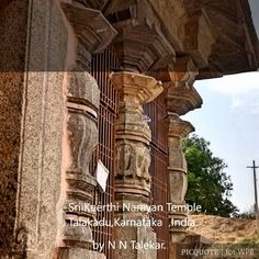 Sri Keerthi Narayana Temple, Talakad ತಲಕಾಡು Talakad or Talakadu is a desert-like town on the left bank of the Kaveri river 45 km (28 miles) from Mysore and 133 km (82 miles) from Bangalore in Karnataka, India. It once had over 30 temples, most of which now lay buried in sand.  Talakad has three temples of Lord Shiva and one temple for Lord Vishnu. The temples of Shiva - Vaideeshwareswar temple, Pataleswar temple, and Maleswara temple belong to Panchalinga sites. The temple dedicated to Lord…